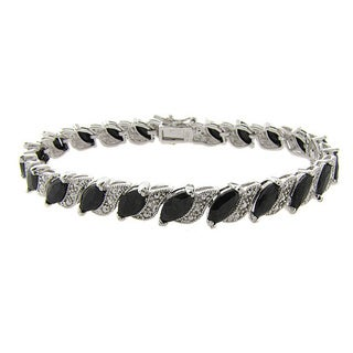 Dolce Giavonna Gemstone and Diamond Accent Bracelet