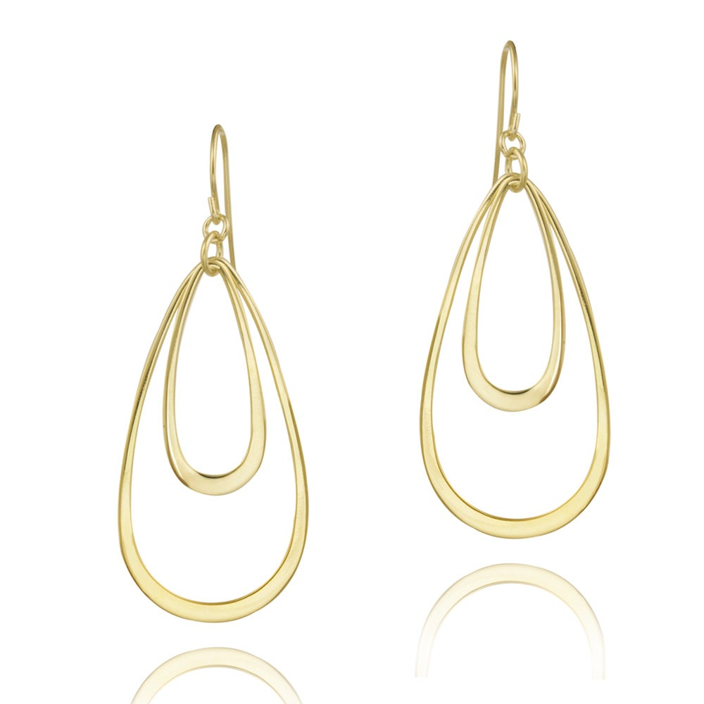 Mondevio 18k Gold over Sterling Silver Geometric Dangle Earrings