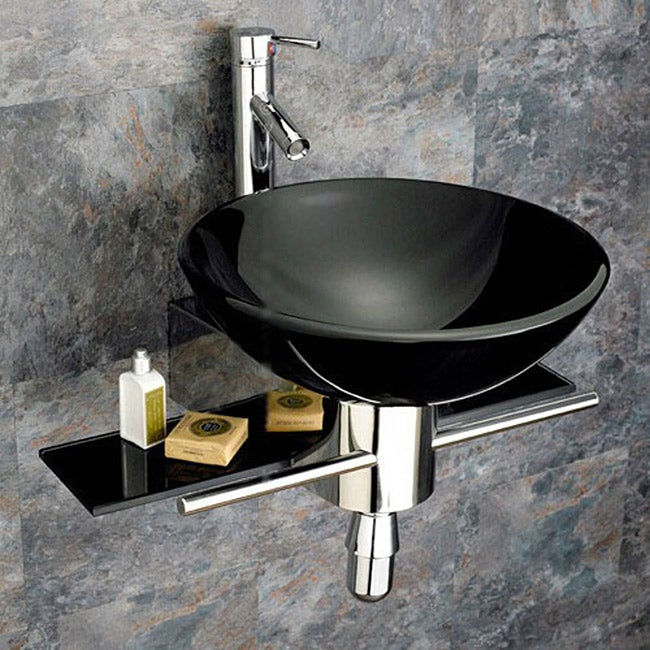 Glass Vanities And Sinks : Bathroom Tempered Glass Vessel Sink and Vanity Faucet - Free Shipping ...