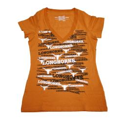 Campus Couture Texas Longhorns Rylan Women's V-neck T-shirt - Thumbnail 0