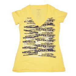 Campus Couture Women's Michigan Wolverines Rylan V-neck T-shirt - Thumbnail 0