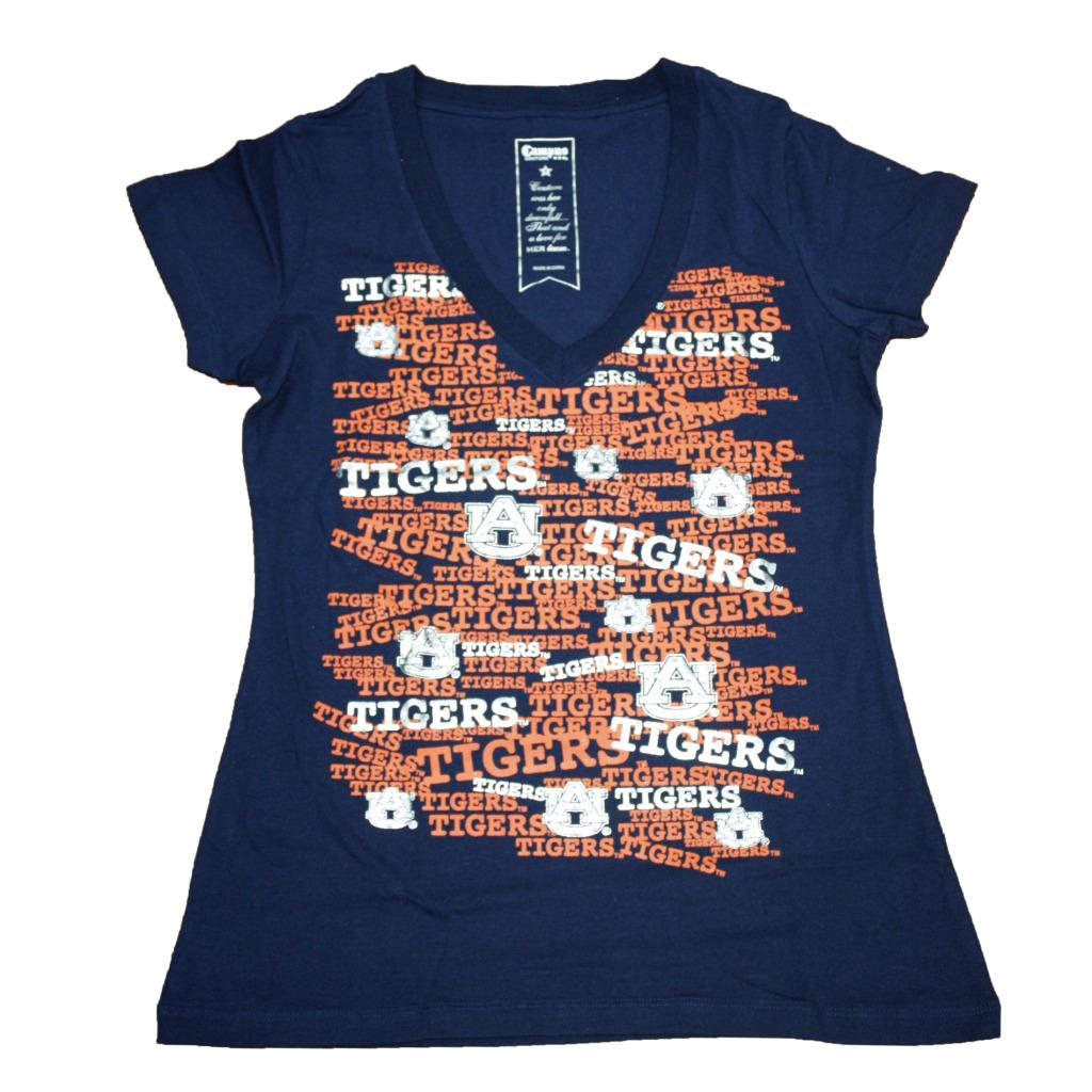Campus Couture Women's Auburn Tigers Rylan V-neck T-shirt