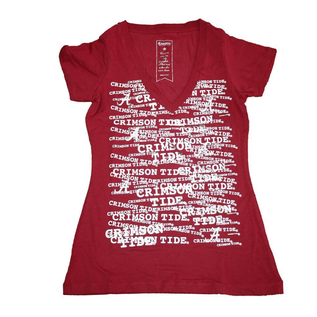 Campus Couture Women's Alabama Crimson Tide Rylan V-neck T-shirt