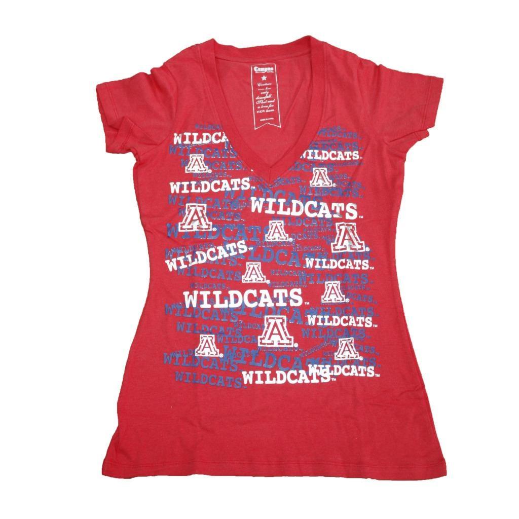 Campus Couture Women's Arizona Wildcats Rylan V-neck T-shirt