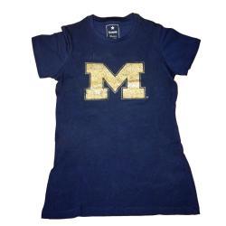 Campus Couture Women's Michigan Wolverines Krista T-shirt - Thumbnail 0