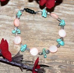 Susen Foster Silverplated Desert Sands Multi-gemstone Bracelet - Thumbnail 1