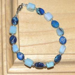 Susen Foster Silverplated Bluebonnets Multi-gemstone Bracelet