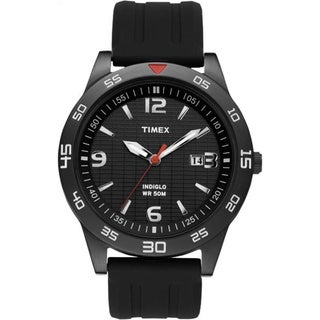 Timex Men's T2N694 Elevated Classics Dress Sport Black Watch
