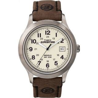 Timex Men's T49870 Expedition Metal Field Brown Leather Strap Watch|https://ak1.ostkcdn.com/images/products/6095371/P13764160.jpg?impolicy=medium