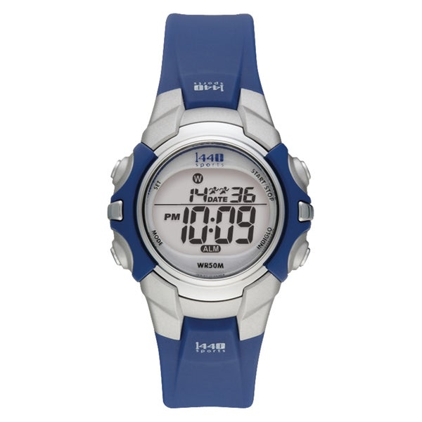 Timex Women's T5J131 1440 Sports Digital Blue/Silvertone Watch