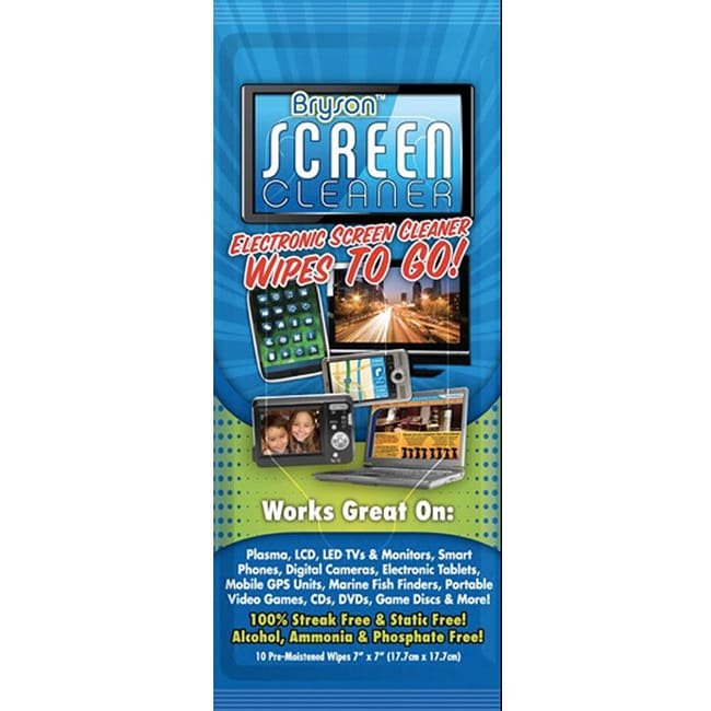 Bryson Citrusafe Screen Cleaner Wipes (Pack of 3)