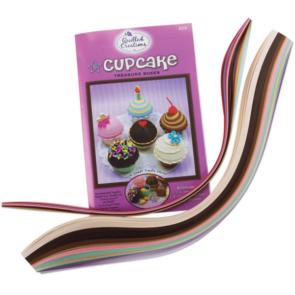 Quilled Creations Cupcake Treasure Boxes Quilling Kit