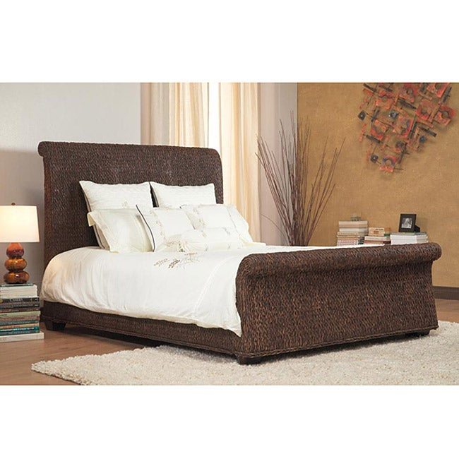 Shop Banana Weave California King Size Sleigh Bed Free