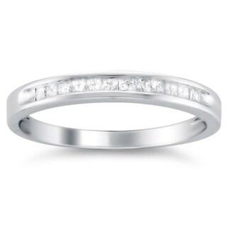Montebello 14k Gold 1/ 4ct TDW Princess Diamond Wedding Band (I-J, I1-I2)