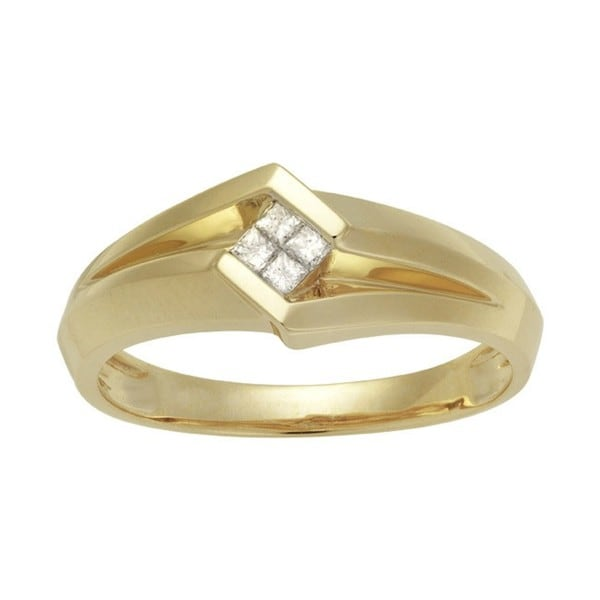 Montebello 14kt Yellow Gold Men's 1/6 CTW Diamond Wedding Band (H-I, I1-I2