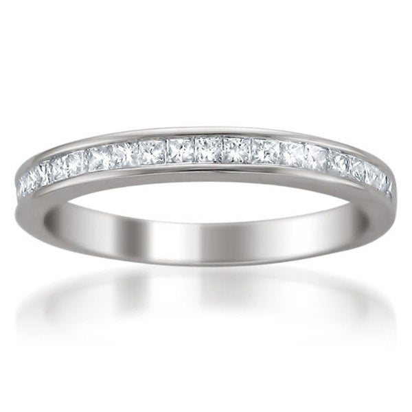 Montebello 14k White Gold 2/5ct TDW Diamond Wedding Band