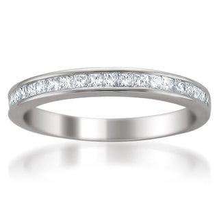Montebello 14k White Gold 2/5ct TDW Diamond Wedding Band (H-I, I1-I2)