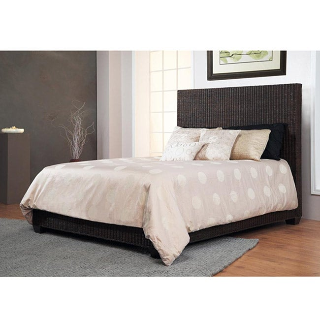 Natural Rattan Queen-size Low Profile Bed