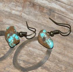 Susen Foster Bronze Cimarron Turquoise Earrings