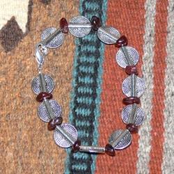 Susen Foster Silverplated Wyatt Earp Garnet Bracelet