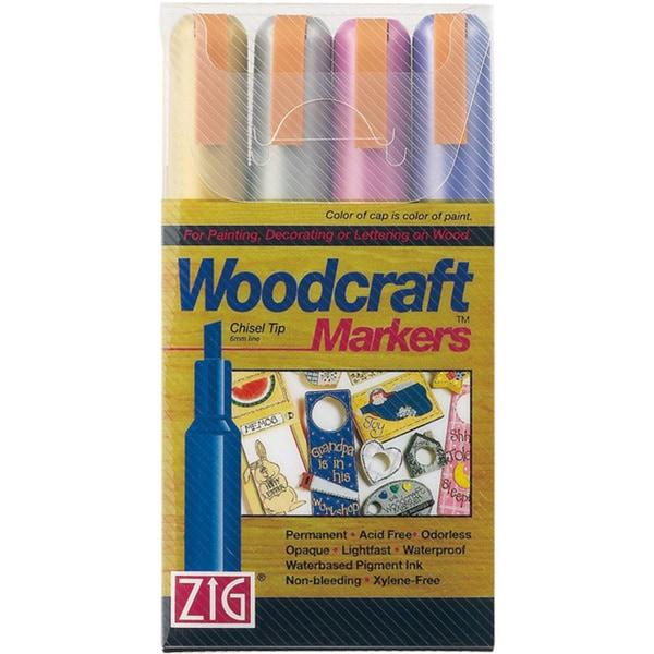 Zig Woodcraft Metallic Chisel Tip Markers (Pack of 4)