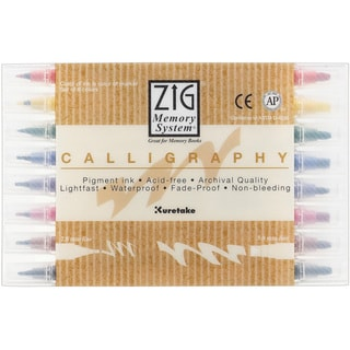 Zig Memory System Calligraphy Markers (Pack of 8)