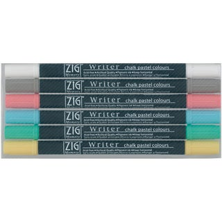 Zig Memory System Chalk Pastel Dual-tip Markers (Pack of 6)
