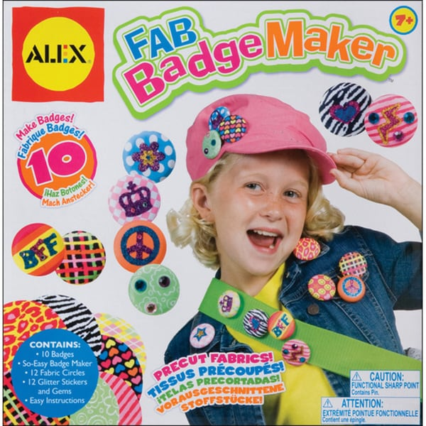 shop alex toys fab badge maker kit free shipping on orders over