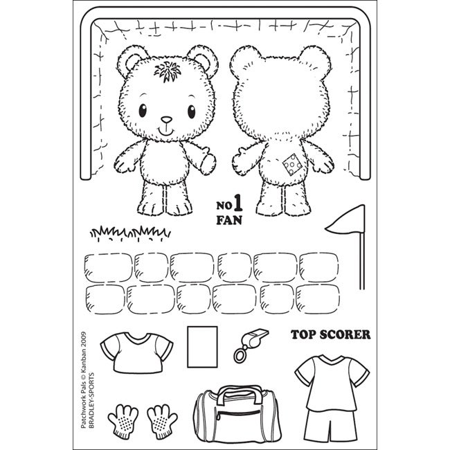 Patchwork Pals Bradley Sports Clear Acrylic Stamps