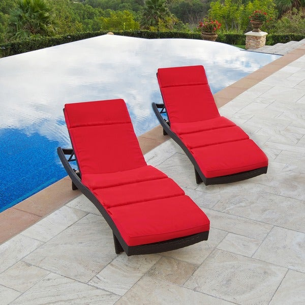 RST Cantina Wave Chaise Lounger and Baffled Mattress (Set of 2)