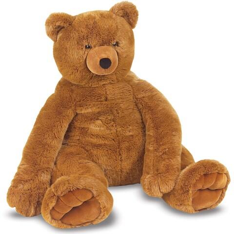 Melissa & Doug Brown Plush Jumbo Teddy Bear
