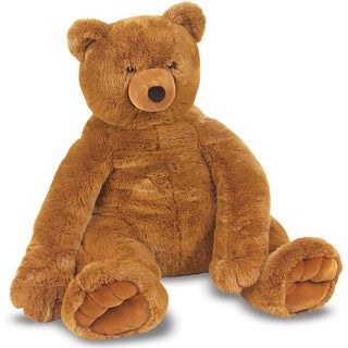 Melissa & Doug Brown Plush Jumbo Teddy Bear