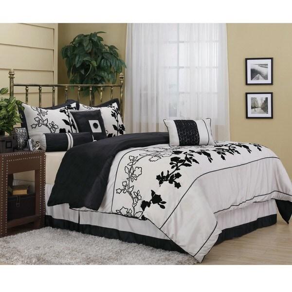 Rene Embroidered Luxury 7-piece Comforter Set