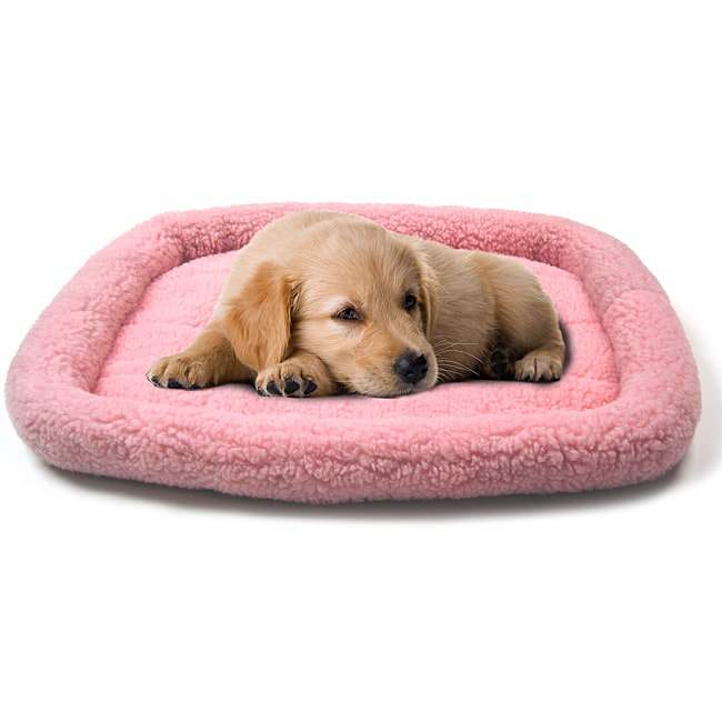 Pink 25x20-inch 2000 Sheepskin Bumper Bed