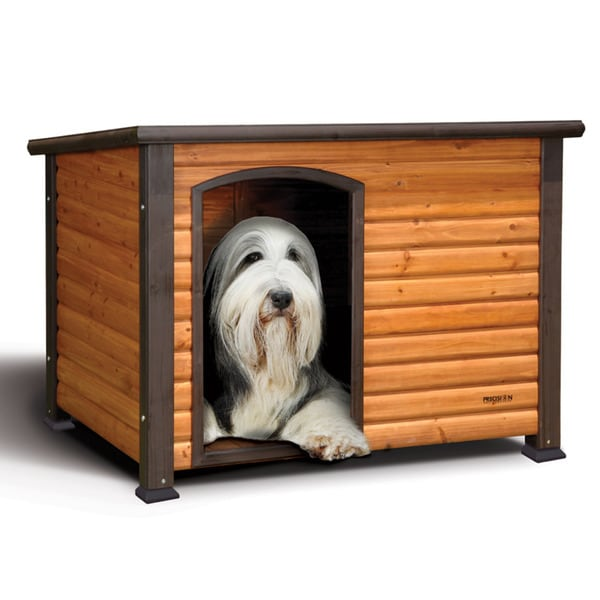 Precision pet extreme large outback log cabin dog house for Outback log cabin dog house