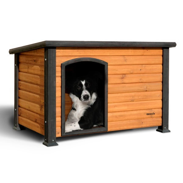 Extreme Outback Medium Natural Solid Wood Log Cabin Dog ...