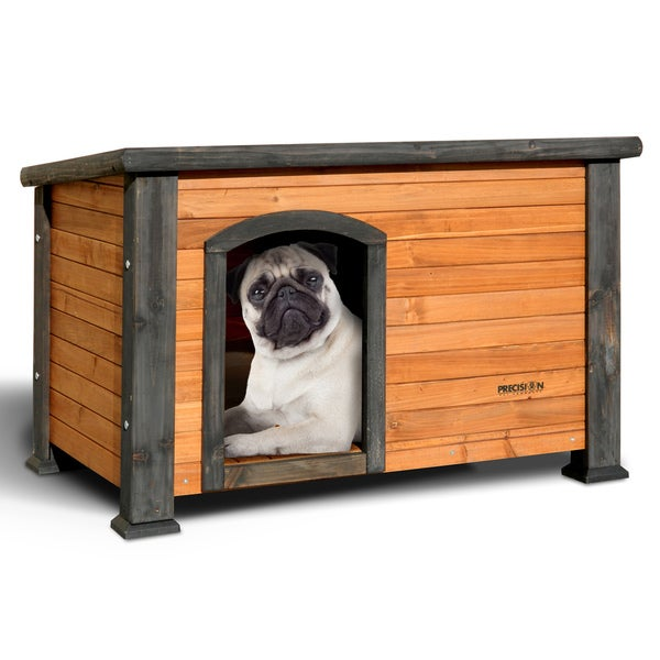 Precision Pet Extreme Outback Log Cabin Dog house with Asphalt Roof