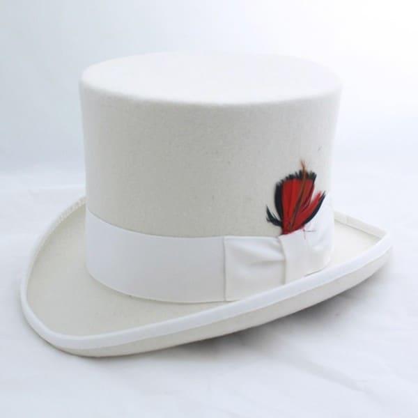 Ferrecci Men's Elegant Off White Top Hat