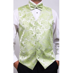 Ferrecci Men's Lime Four-piece Vest Set - Thumbnail 1