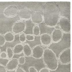 Safavieh Handmade Soho Loops Grey New Zealand Wool Rug (7'6 x 9'6) - Thumbnail 1