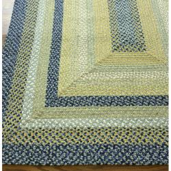 Thumbnail 2, nuLOOM Handmade Cotton Fabric Braided Blue Cottage Rug (5' x 8'). Changes active main hero.