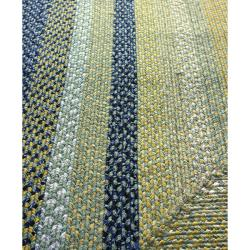 Thumbnail 3, nuLOOM Handmade Cotton Fabric Braided Blue Cottage Rug (5' x 8'). Changes active main hero.