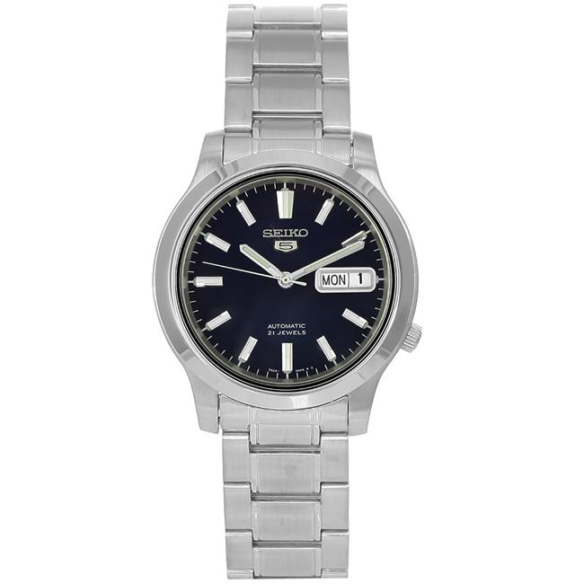Seiko Men's Stainless Steel 21-Jewel Automatic Blue Dial Watch