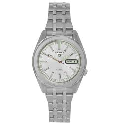 Seiko Men's Stainless Steel 21-Jewel Automatic Silver Dial Watch - Thumbnail 0