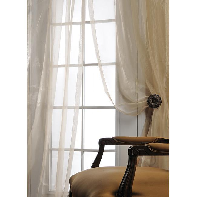 Sheer Curtains 96 sheer curtains : White Silk Organza 96-inch Sheer Curtain Panel - Free Shipping ...