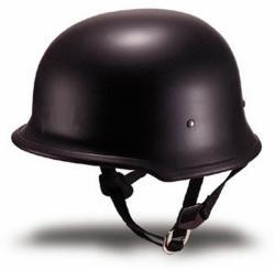DOT German Flat Motorcycle Helmet - Thumbnail 1