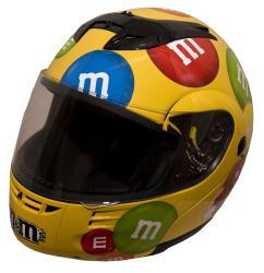 DOT Modular Full Face Yellow M&M Motorcyle Helmet