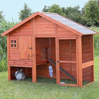 TRIXIE Rabbit Hutch with Gabled Roof