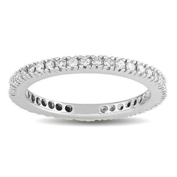 14k White Gold 1/3ct TDW Diamond Eternity Ring (G-H, SI1-SI2)