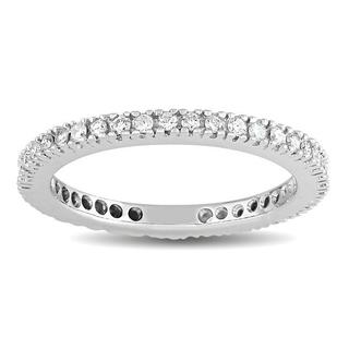 14k White Gold 1/3ct TDW Diamond Eternity Ring (G-H, SI1-SI2)